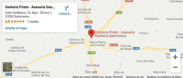 localización Asesoría Salamanca